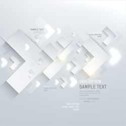 Paper graphics for abstract infographics design with paper and glow arrows. Vector eps10.