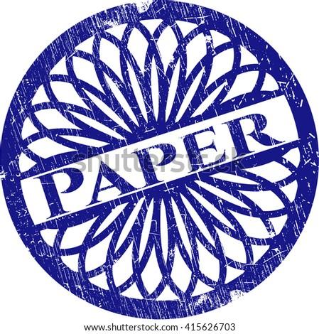 Paper grunge seal
