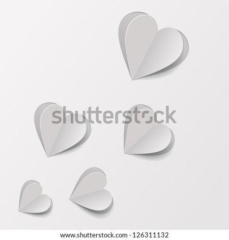 paper hearts cut from paper