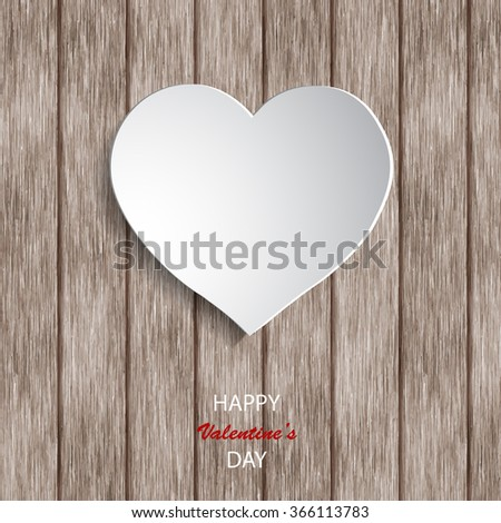 paper hearts on wooden