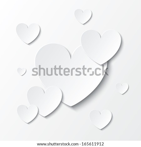 paper hearts valentines day