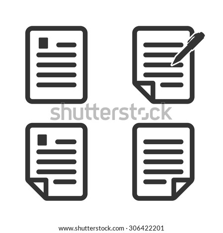 Paper icon,Document icon,Vector EPS10
