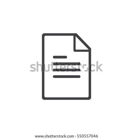 Paper Icon on the white background