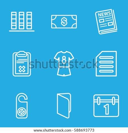 paper icons set set of 9 paper