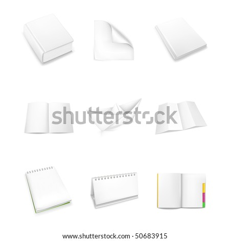 Paper icons, vector