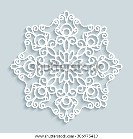 paper lace doily  decorative