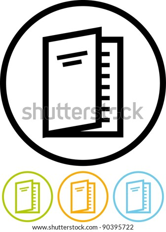 Paper magazine - Vector icon isolated on white