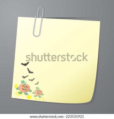paper note of halloween