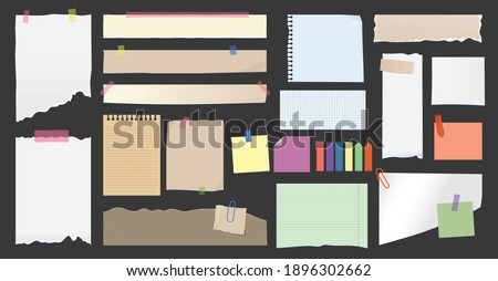 paper notes torn page memo clips sticky notes