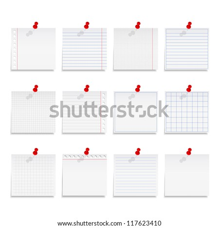 Paper notes, vector eps10 illustration