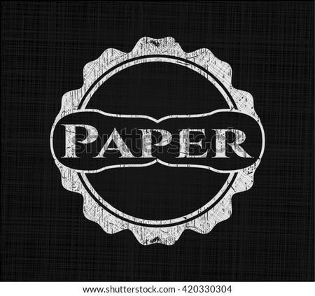 Paper on blackboard