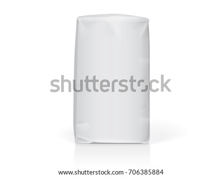 Paper or plastic bag Easy to change colors Mock Up Vector Template