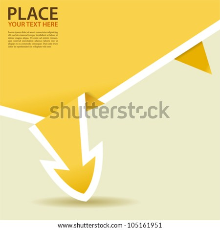 Paper Origami Arrow, element for design, vector illustration