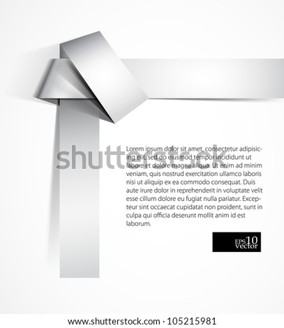 Paper origami knot background