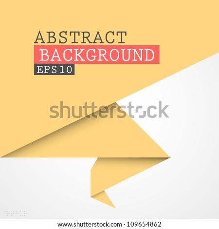 Paper origami vector banner