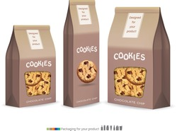 Paper packaging for cookie.vector