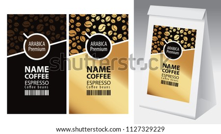 paper packaging with label for