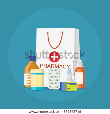 paper packet with medicine