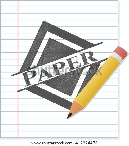 Paper pencil effect