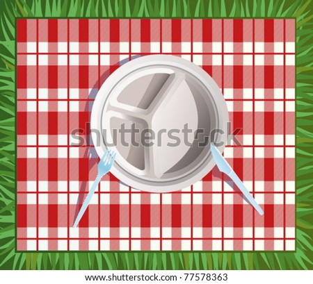 Paper picnic plate. All objects are in separate layers and grouped inidually. Very easy  sc 1 st  Vecteezy & Paper Picnic Plates - Download Free Vector Art Stock Graphics \u0026 Images