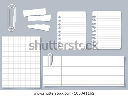 paper piece design elements