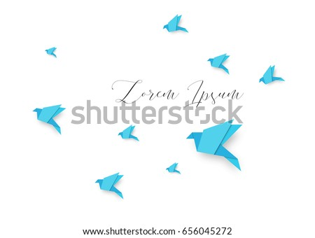 paper pigeons and doves set in
