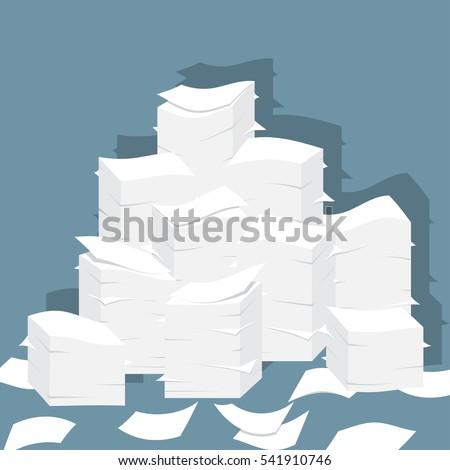 paper pile flat illustration....