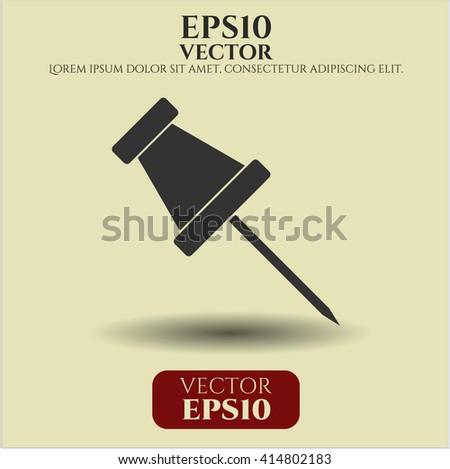 Paper Pin icon vector illustration