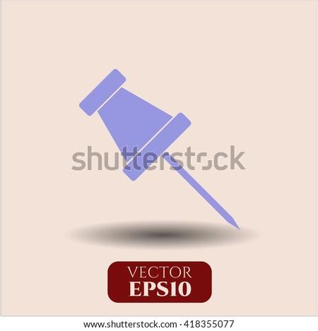paper pin icon vector symbol flat eps jpg app web concept