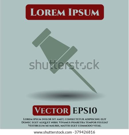 Paper Pin vector icon