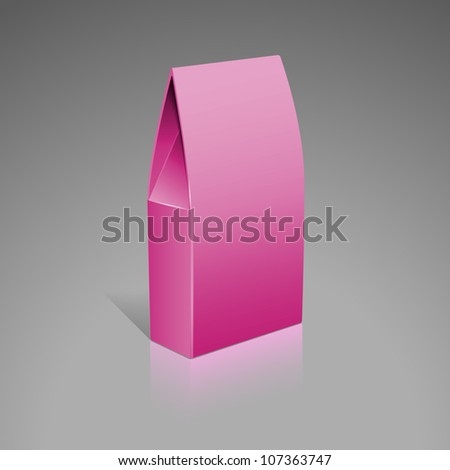 Paper Pink food cardboard package