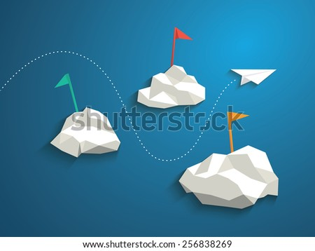paper plane and low polygonal