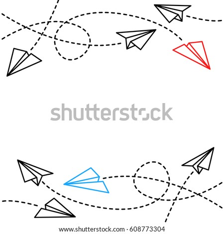paper plane background