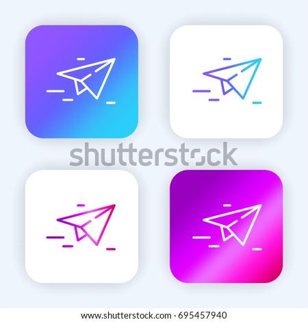 Paper plane bright purple and blue gradient app icon