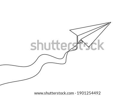 paper plane continuous one line