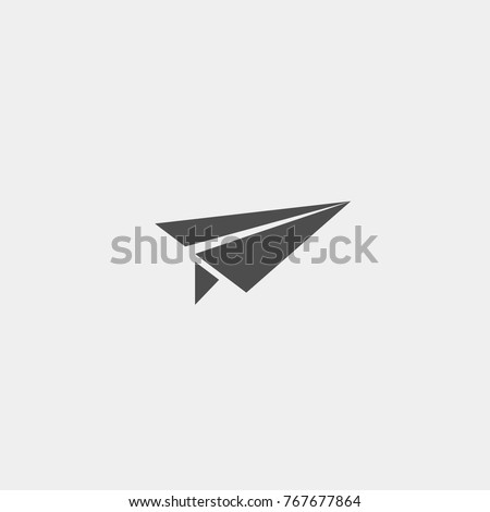 Paper plane flat vector icon