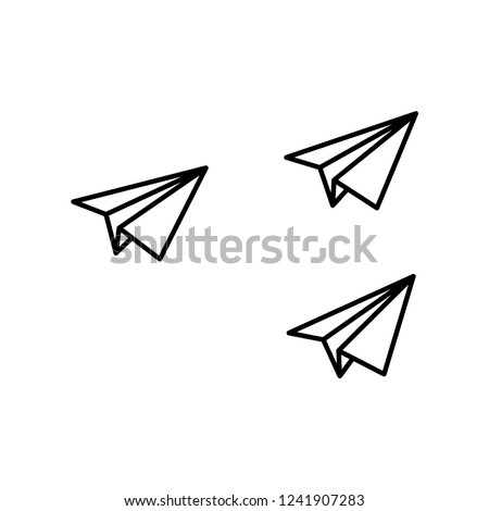 paper plane formation icon vector