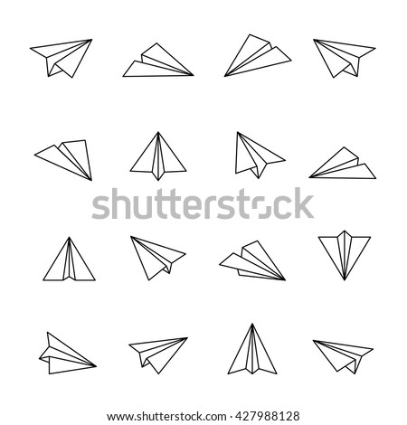 Paper Plane Icon Outline Icons Air Fly Different Other