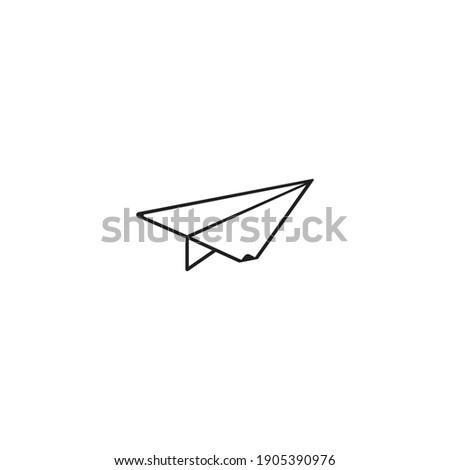 Paper plane icon vector, Send Message solid logo illustration.