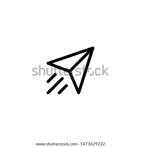 Paper plane icon vector. Send Message solid logo illustration. Paper Plane icon. Trendy Flat style for graphic design, Web site, UI. EPS10. Vector illustration