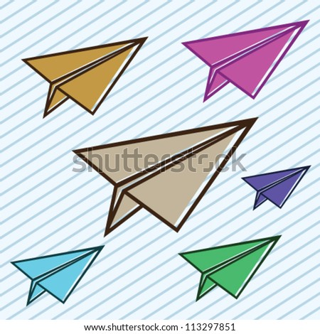 Paper Plane Illustration Vector - stock vector