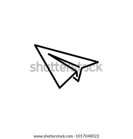 Paper Plane Lineart Logo