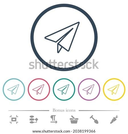 paper plane outline flat color