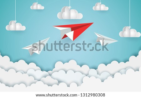 paper plane red and white