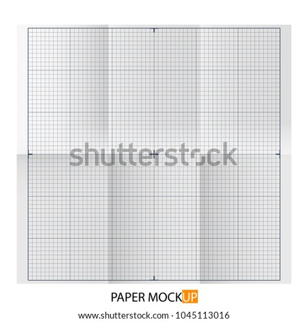 Paper poster for draft, backgrpund mock up. Realistic draft paper. For Your business project. Vector Illustration