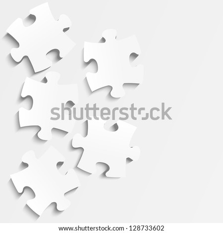 Paper puzzle background with place for text