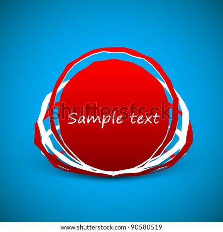 Paper red paper bubble speech to the Valentine's Day Vector illustration