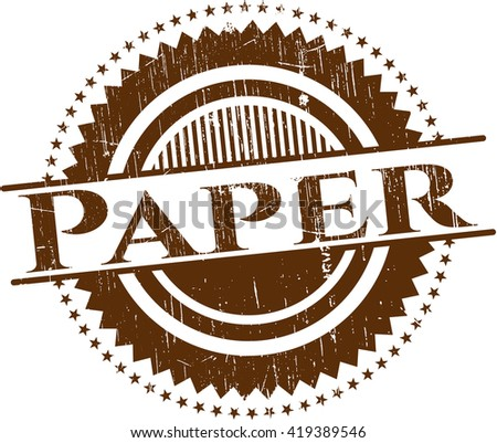 Paper rubber grunge seal