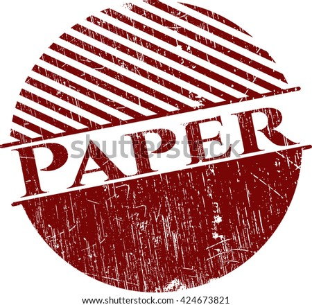 Paper rubber grunge stamp