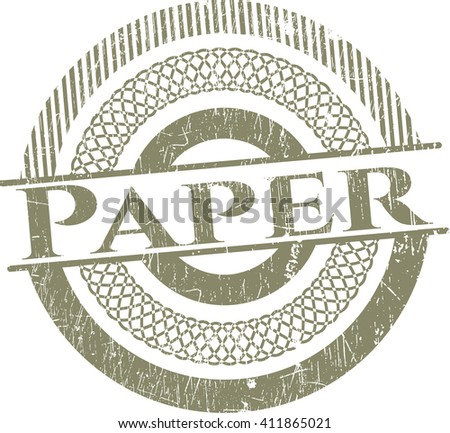 Paper rubber seal with grunge texture